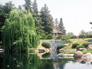 View of the San Fernando Valley's Japanese Garden