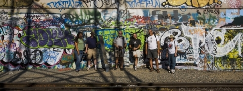 Urban Photo Adventures Dry Run Crew (Just Downstream from the Olympic Boulevard Bridge)