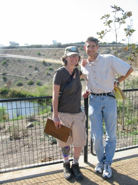 Jenny Price and Jared Orsi at the Dominguez Gap in North Long Beach