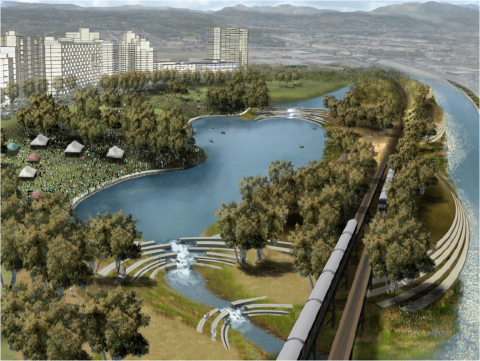 Boating in the Los Angeles River's Future - the Los Angeles city plan for the Chinatown Stretch