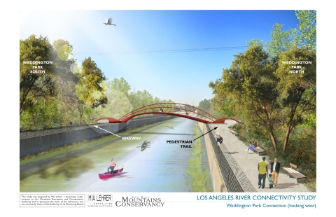Proposed Bridge over Los Angeles Connecting Greenways along North and South Weddington Park